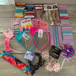 NEW Girls Hair Bundle - Ties, Clips, Headbands